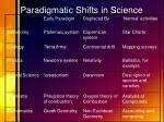 paradigmatic shifts in science