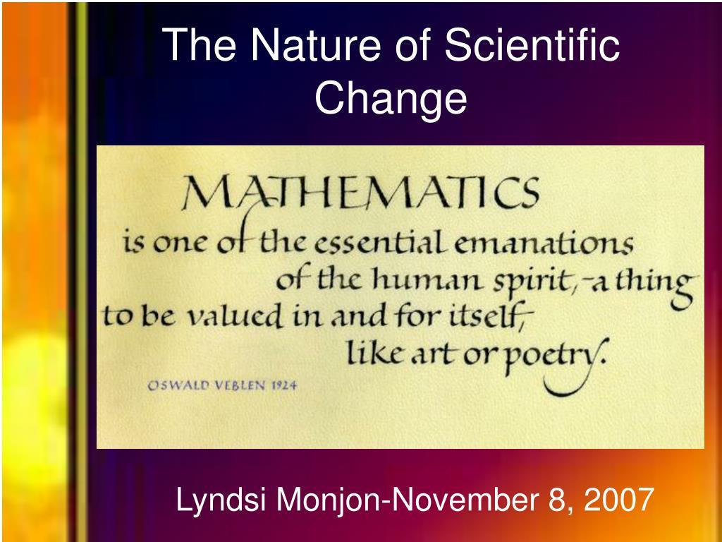 the nature of scientific change l.