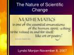 the nature of scientific change