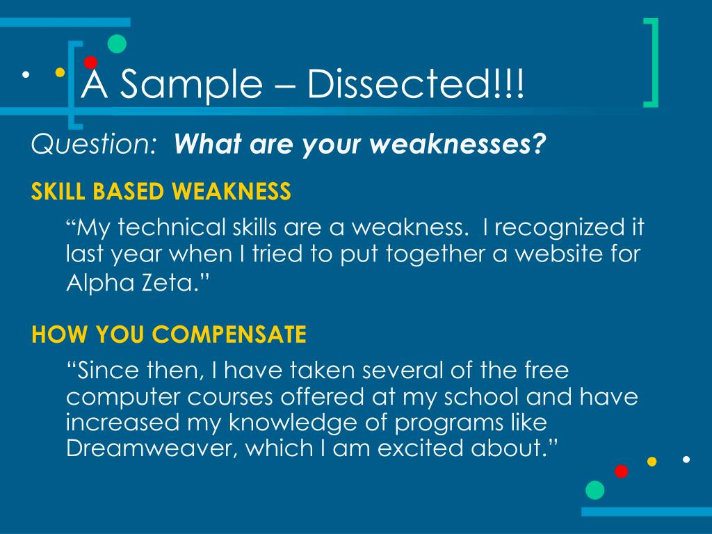A Sample – Dissected!!!