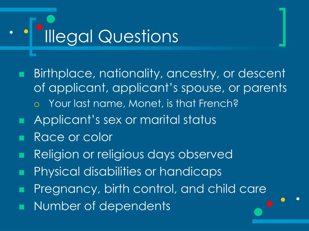 Illegal Questions