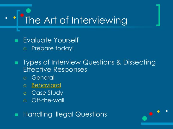 The art of interviewing2