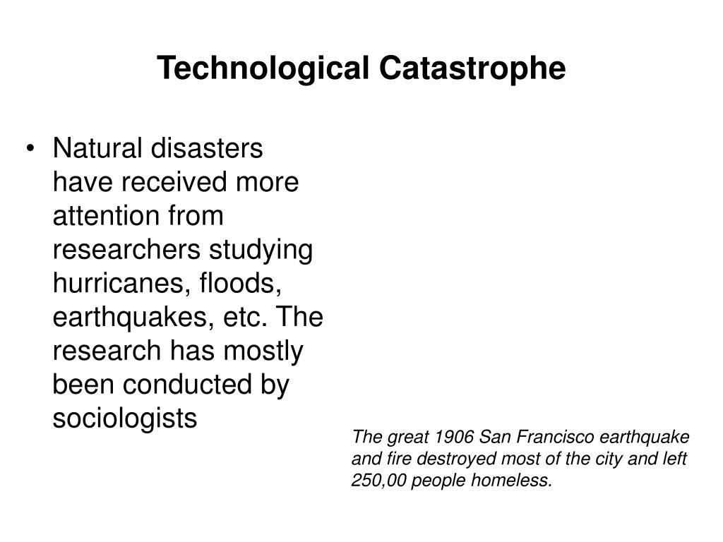 technological catastrophe l.