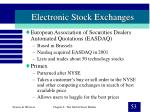 electronic stock exchanges53