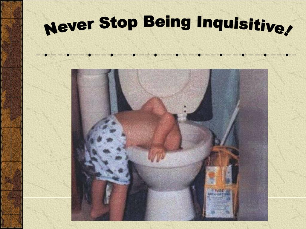 Never Stop Being Inquisitive!