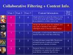 collaborative filtering content info58