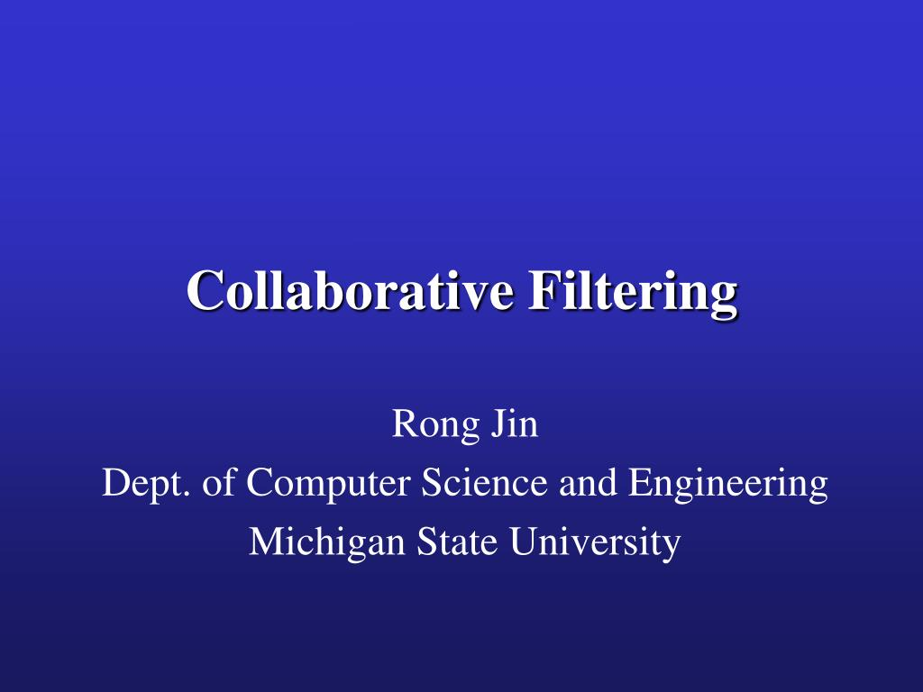 collaborative filtering l.