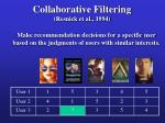collaborative filtering resnick et al 19944