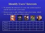 identify users interests28