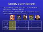 identify users interests30