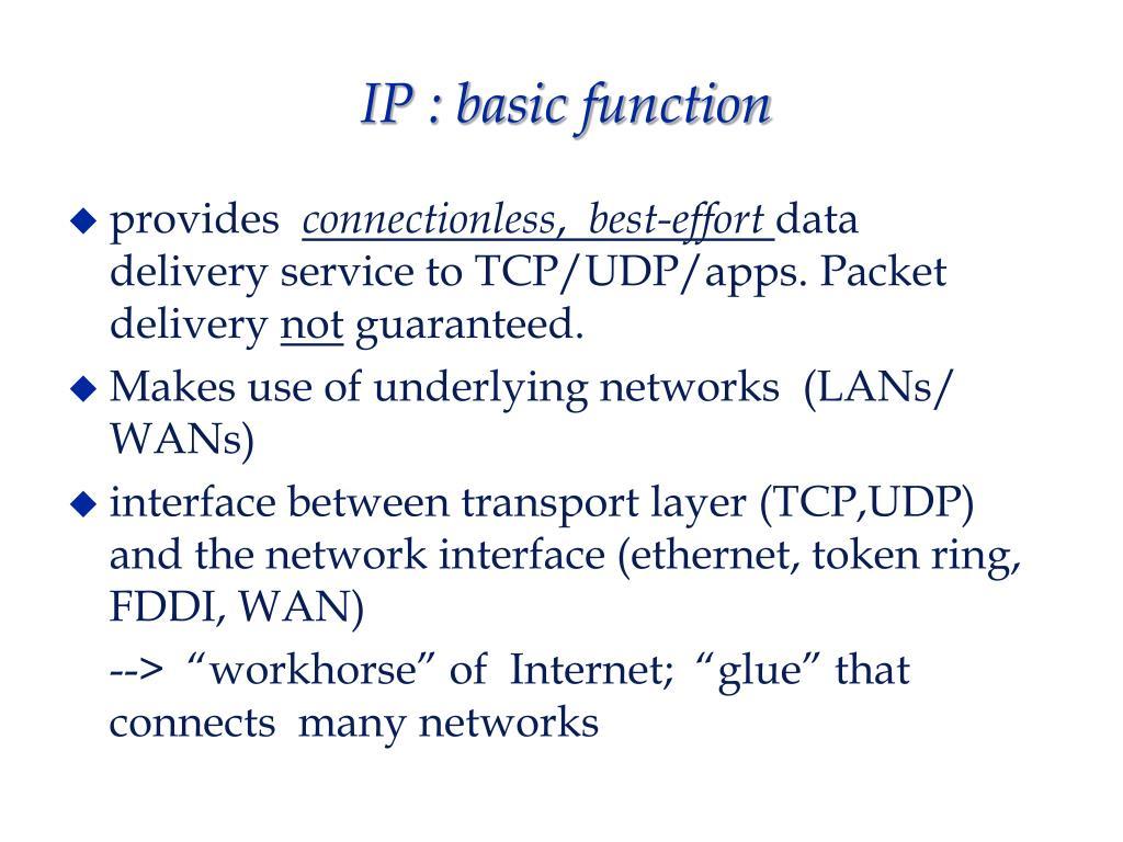 IP : basic function