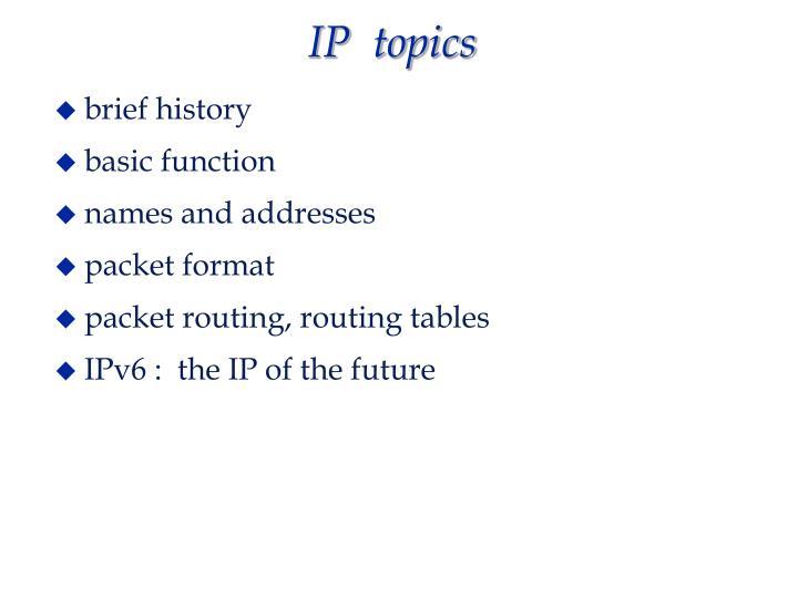 Ip topics