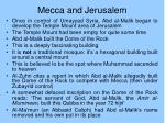 mecca and jerusalem