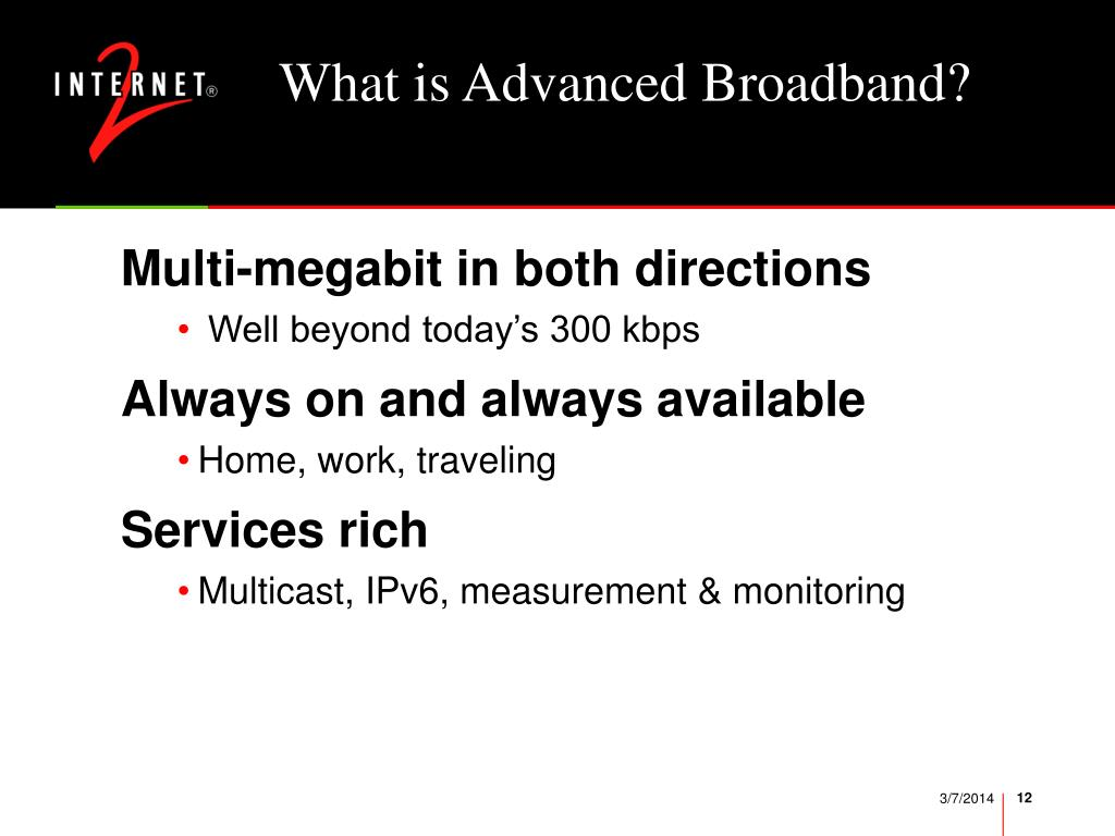 What is Advanced Broadband?