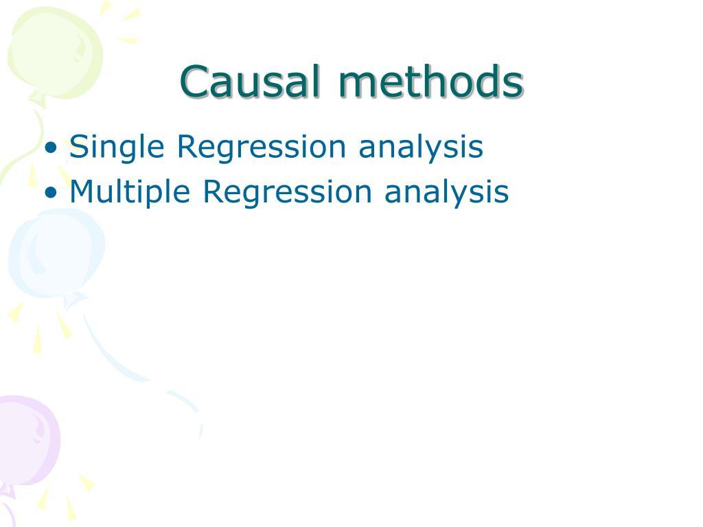 Causal methods