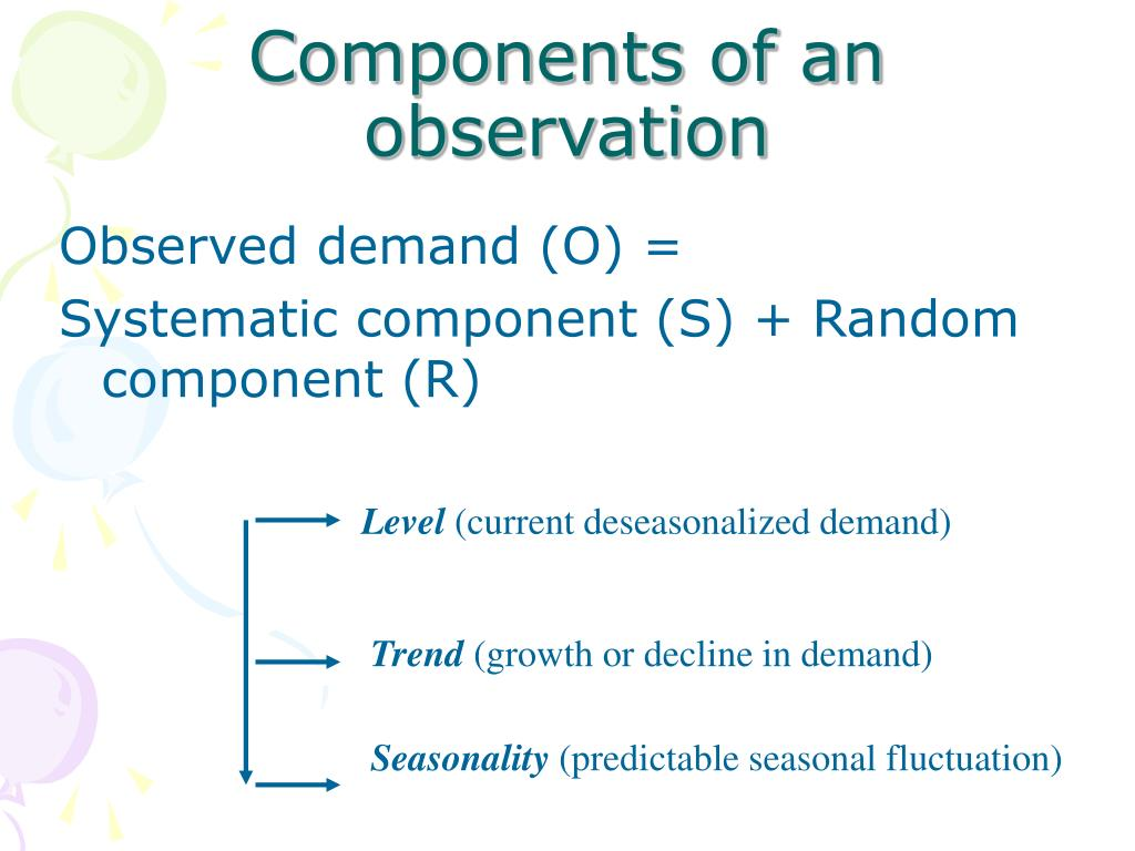 Components of an observation