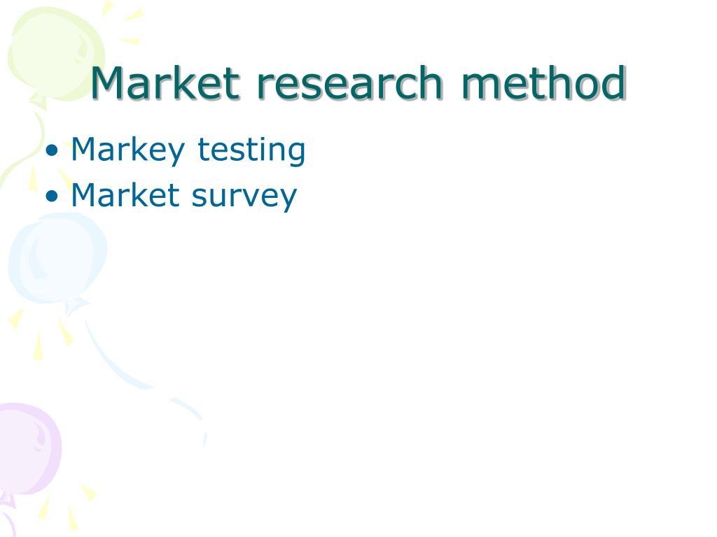 Market research method