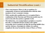 industrial stratification cont