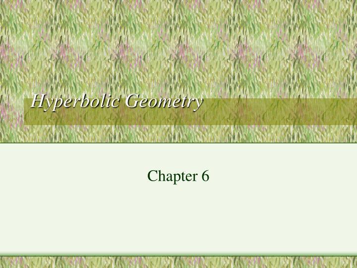 hyperbolic geometry n.