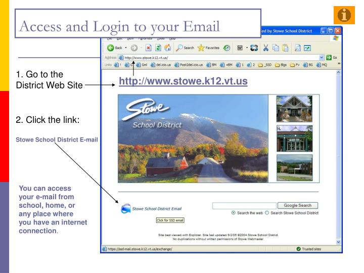Access and login to your email