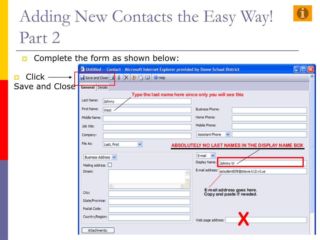 Adding New Contacts the Easy Way!