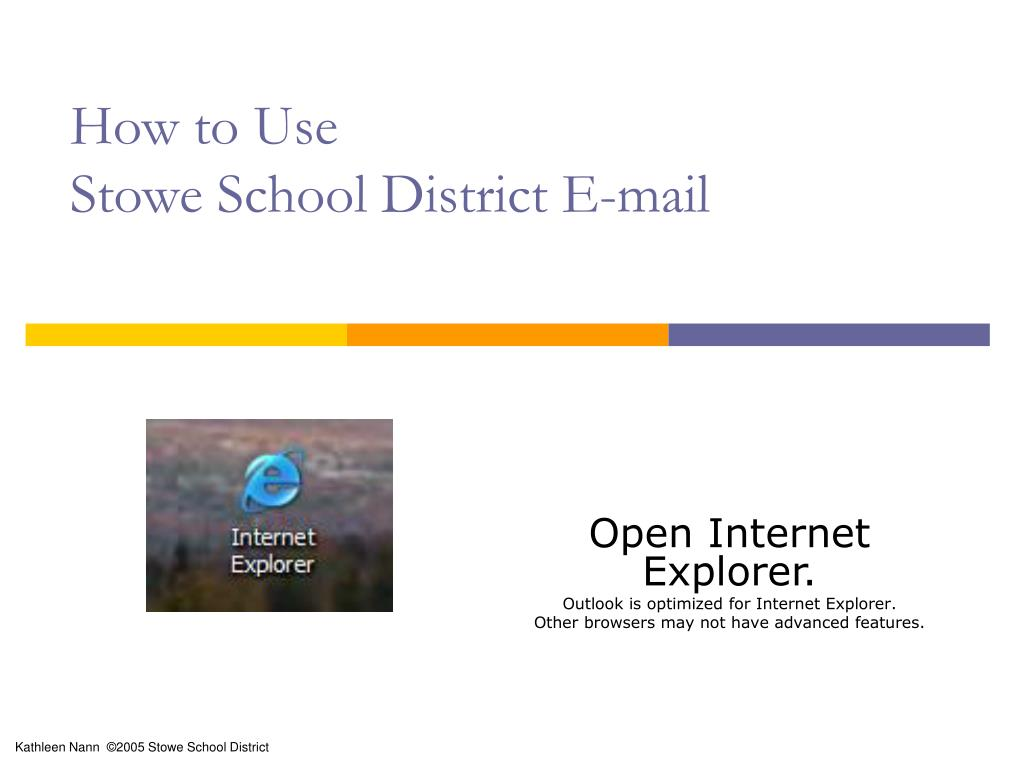 how to use stowe school district e mail l.