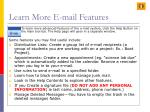 learn more e mail features