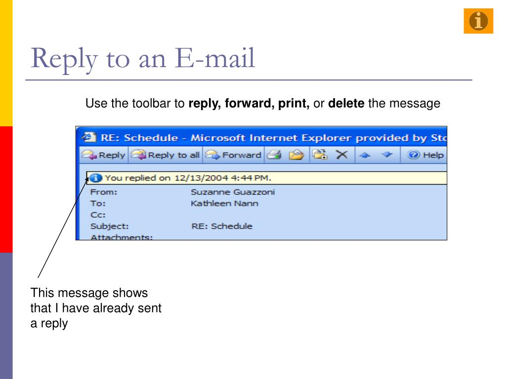 Reply to an E-mail
