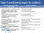 triple p and building respect resilience