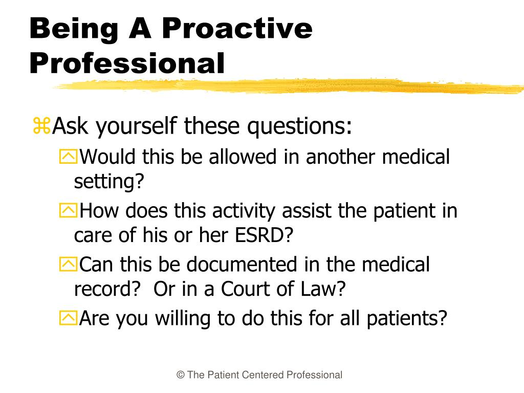 Being A Proactive Professional