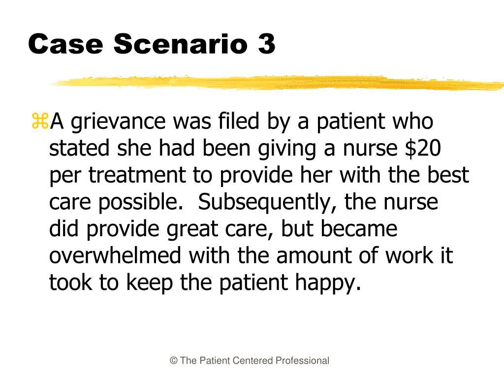 Case Scenario 3