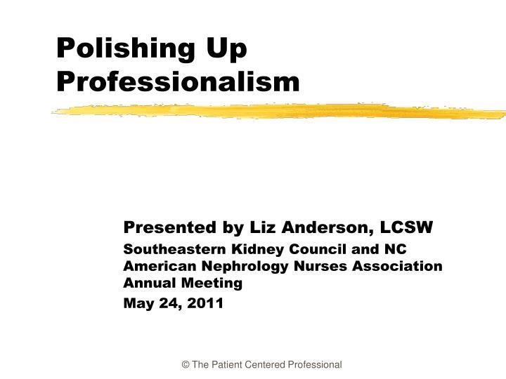 Polishing up professionalism