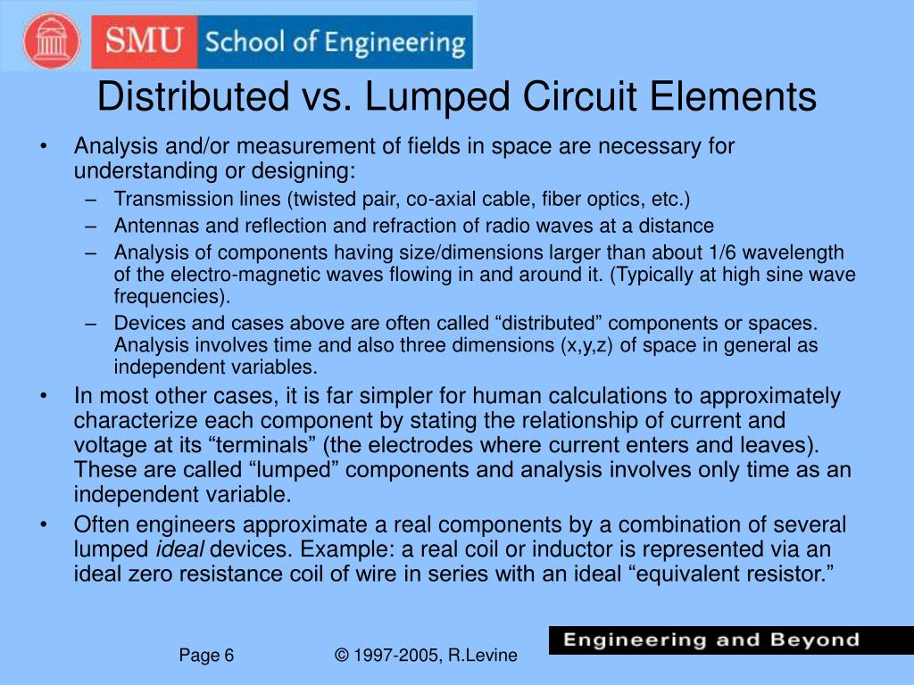 Distributed vs. Lumped Circuit Elements