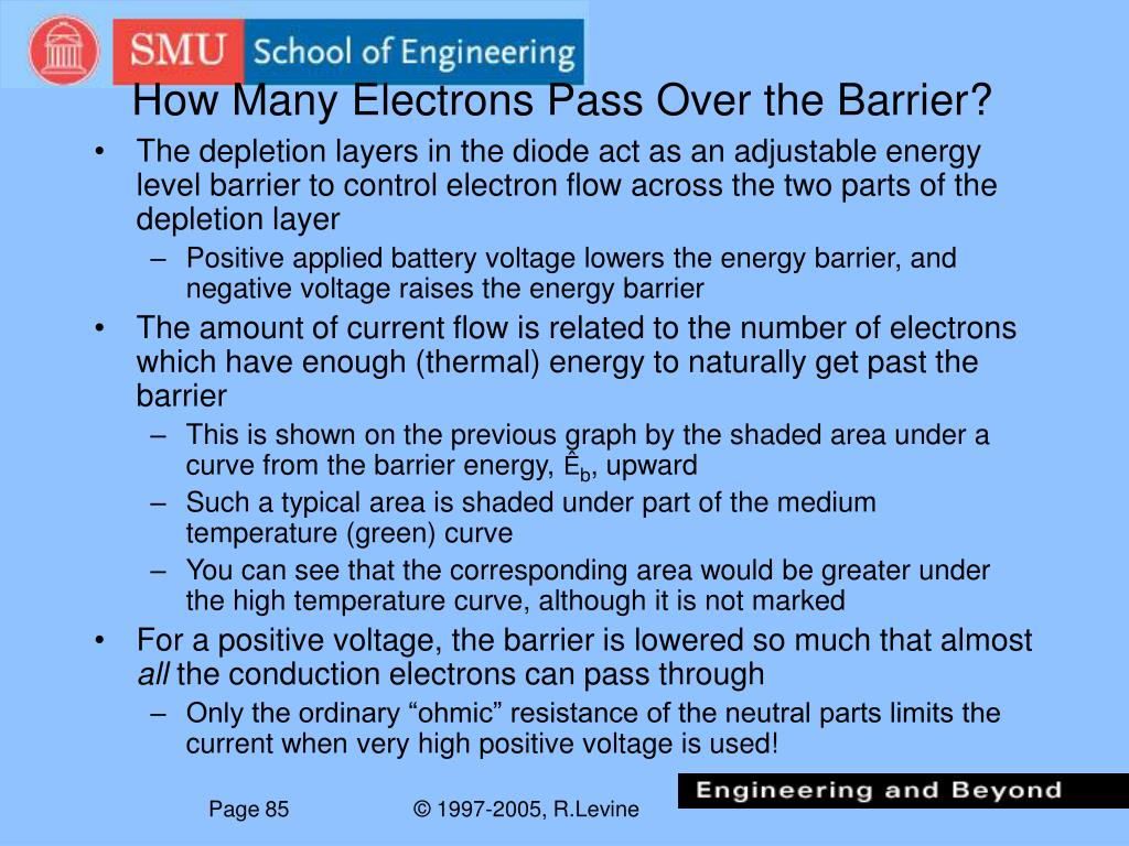 How Many Electrons Pass Over the Barrier?