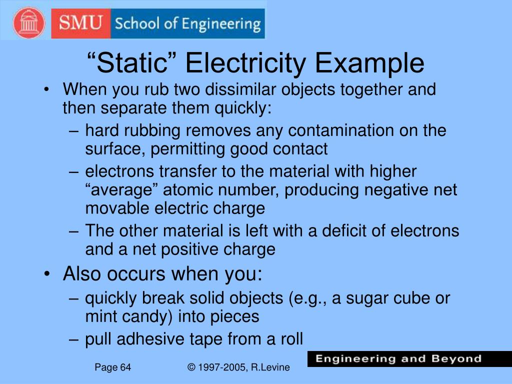 """Static"" Electricity Example"