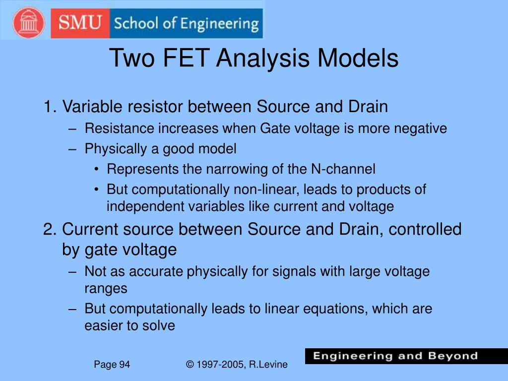 Two FET Analysis Models
