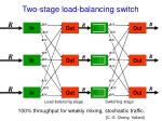 two stage load balancing switch