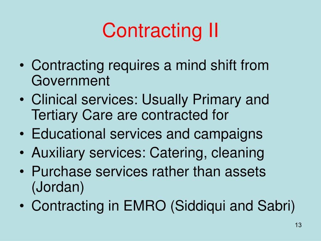 Contracting II