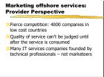 marketing offshore services provider perspective