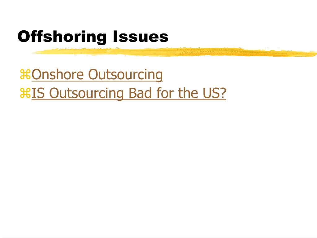 Offshoring Issues