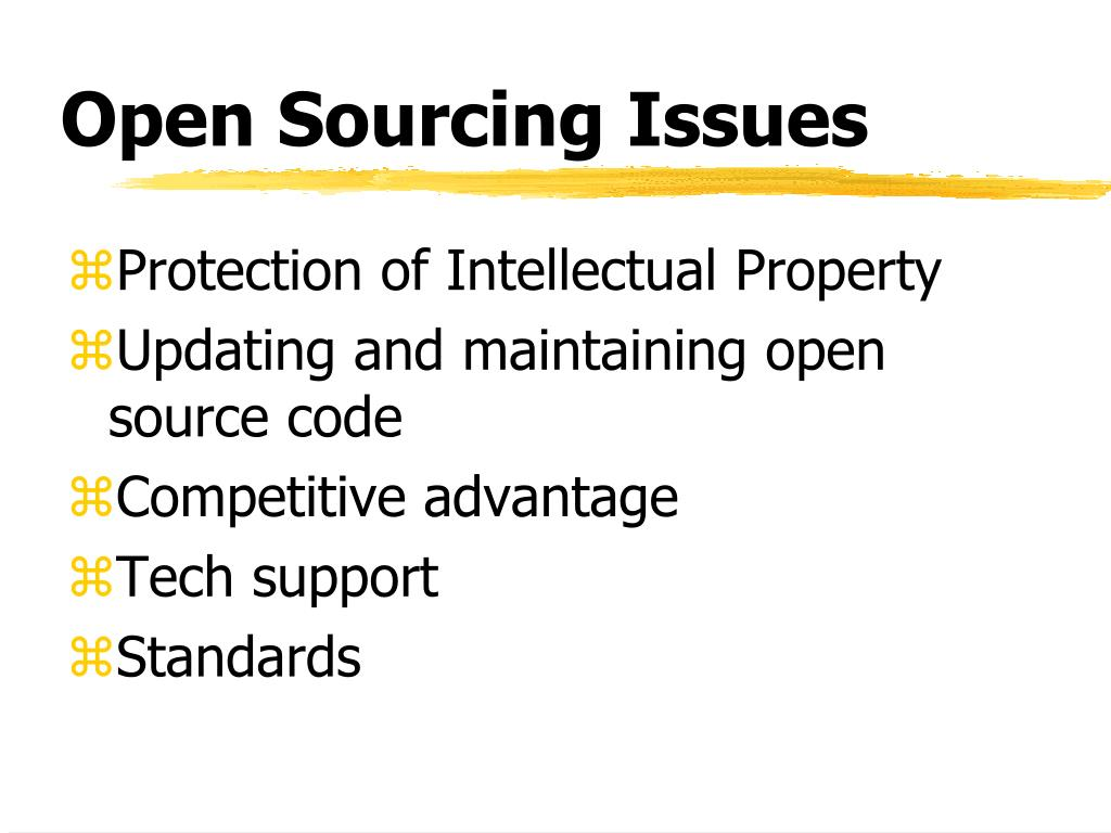 Open Sourcing Issues