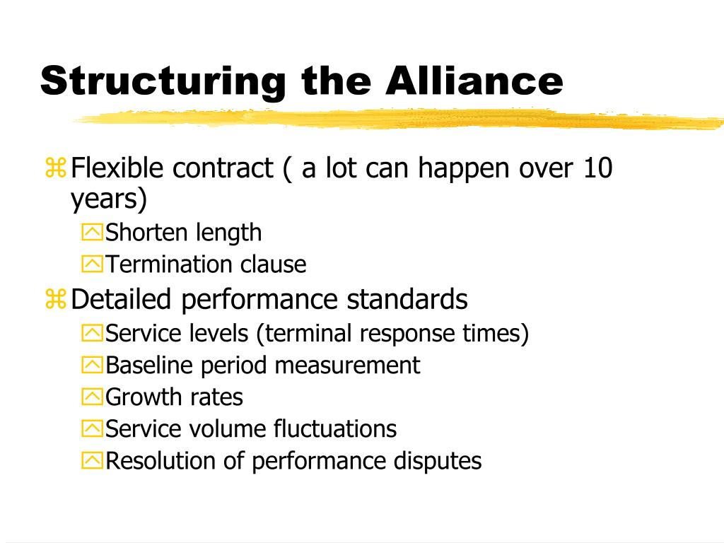 Structuring the Alliance