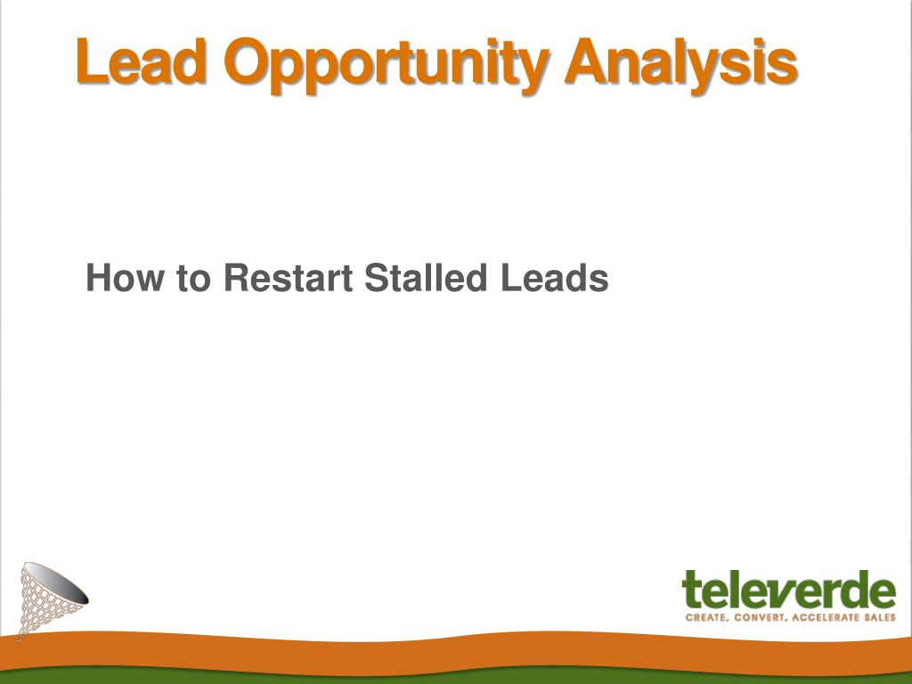 how to restart stalled leads