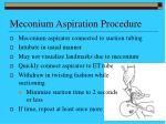 meconium aspiration procedure