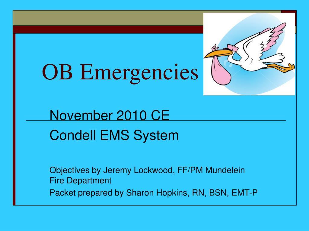 ob emergencies l.