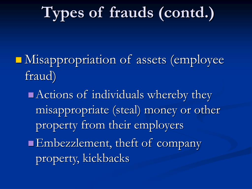 Types of frauds (contd.)