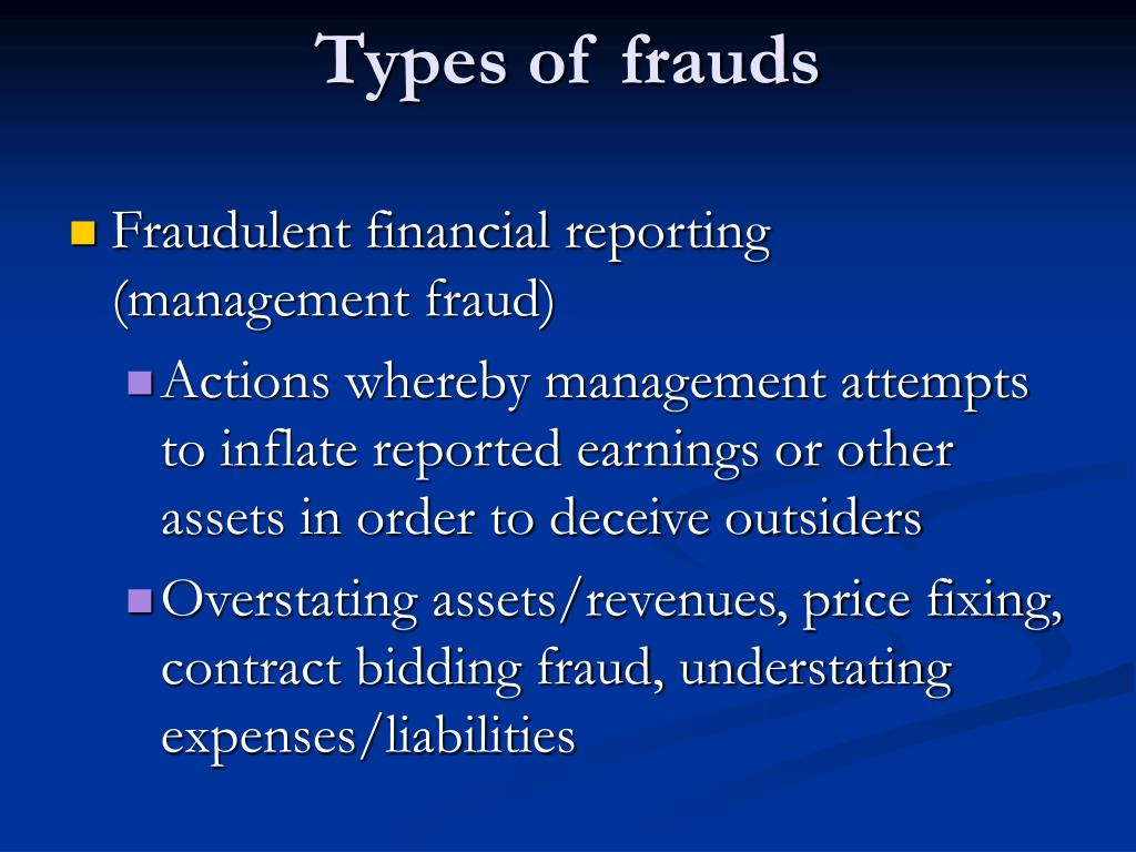 Types of frauds