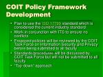 coit policy framework development