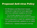 proposed anti virus policy