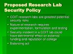 proposed research lab security policy